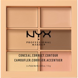 NYX Professional Makeup Conceal, Correct, Contour Palette 1.5g 01 Light found on Makeup Collection from Feelunique (UK) for GBP 11.99