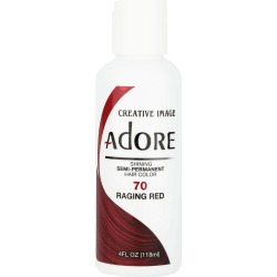 Creative Image Adore Shining Semi-Permanent Hair Color 70 Raging Red 118Ml found on Makeup Collection from Feelunique (UK) for GBP 5.71