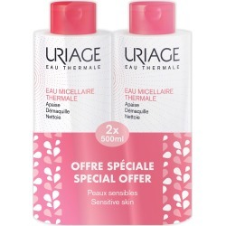 Uriage Thermal Micellar Water For Sensitive Skin 500Ml X 2 found on Makeup Collection from Feelunique (EU) for GBP 21.9