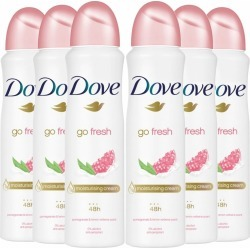 Dove Women Go Fresh Pomegranate & Lemon Verbana Aerosol Anti-Perspirant Deodorant 150Ml X6 found on Makeup Collection from Feelunique (UK) for GBP 14.98