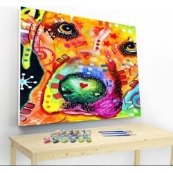 Artistry Rack Scenery & Animals Paint by Numbers Kit - Colorful Dog