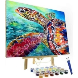 Artistry Rack Scenery & Animals Paint by Numbers Kit - 5D Turtle