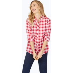 Dara Petite Relaxed Fit Gingham Tunic