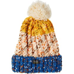 Polar Extreme Women�s Beanie with Faux Fur Thermal Lining - Fleck Yarn - Blue/Beige
