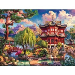 Artistry Rack Scenery & Animals Paint by Numbers Kit - Secret Temple
