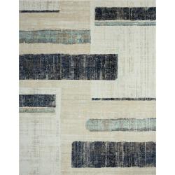 Natori 24-Seven- Art Moderna Indigo/Sandstone Rug, Size 2.8 x 10