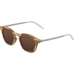 Earth Wood Kavaja Polarized Unisex Sunglasses  - Apple Wood/Brown