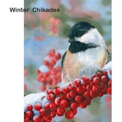 Artistry Rack Scenery & Animals Paint by Numbers Kit - Winter Chikadee