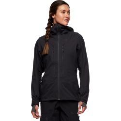 Black Diamond Equipment Women's Dawn Patrol Hybrid Shell Jacket Size Medium, in Black found on Bargain Bro India from Black Diamond Equipment for $349.00