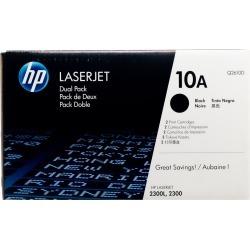 Original HP 10A 2-Pack Q2610D Black LaserJet Toner Cartridges Dual Pack  -  black found on Bargain Bro Philippines from Toner Buzz for $249.95