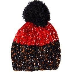 Polar Extreme Women�s Beanie with Faux Fur Thermal Lining - Fleck Yarn - Red/Black