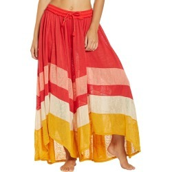 Free People Women's Warrior Pants - Red Combo Medium Cotton