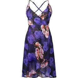 Costbuys  Women Summer Dress Backless Print Sleeveless Spaghetti Strap Women Dress Chiffon Mid-Calf Party Dresses - 2101-8 / S found on Bargain Bro India from cost buys for $69.99