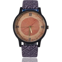 Costbuys  Wood Retro Women Casual Watches Brand Vintage Leather ladies Quartz Clock Hours Woman Fashion Face Wooden dress Watch