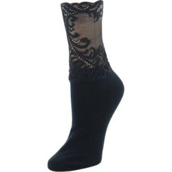 Natori Feathers Lace Anklets for Women Black Legwear