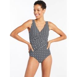 Women's Slimming Swimwear, One Piece Swimsuit Print Black 18