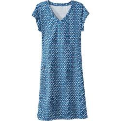 Short-Sleeve Fitness Workout Dress, Print