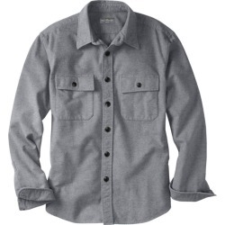 Men's Signature 1933 Chamois Cloth Shirt, Slim Fit Gray XL found on Bargain Bro from L.L. Bean for USD $53.16