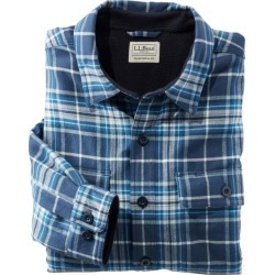 Men's Fleece-Lined Flannel Shirt, Traditional Fit Blue M found on Bargain Bro India from L.L. Bean for $64.99