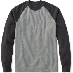 Men's Washed Cotton Double-Knit Crewneck, Slightly Fitted Long-Sleeve Colorblock Multi Color L found on Bargain Bro India from L.L. Bean for $39.95