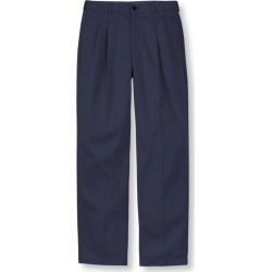 Men's Wrinkle-Free Double LA Chinos, Classic Fit Pleated Blue 32 Wx29 Ins found on Bargain Bro India from L.L. Bean for $49.95