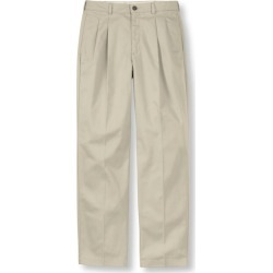Men's Wrinkle-Free Double LA Chinos, Classic Fit Pleated Brown 34 Wx34 Ins found on Bargain Bro India from L.L. Bean for $49.95
