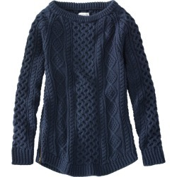 Women's Signature Cotton Fisherman Tunic Sweater Blue S found on Bargain Bro India from L.L. Bean for $119.00