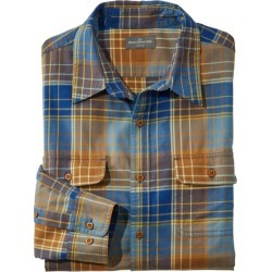 Men's Signature Castine Flannel Shirt, Slim Fit, Plaid Blue S found on Bargain Bro from L.L. Bean for USD $26.59