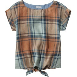 Women's Signature Short-Sleeve Linen Top Green Xxs found on Bargain Bro India from L.L. Bean for $39.99
