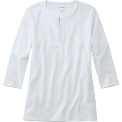 Women's L.L.Bean Tee, Three-Quarter-Sleeve Splitneck Tunic White M found on Bargain Bro India from L.L. Bean for $34.95