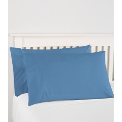 280-Thread-Count Pima Cotton Percale Pillowcases, Set of Two Blue found on Bargain Bro India from L.L. Bean for $44.95