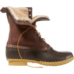 """Men's Bean Boots by L.L.BeanA, 10"""" Tumbled-Leather Shearling-Lined"""