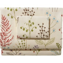 Botanical Floral Flannel Sheet Collection Tan found on Bargain Bro Philippines from L.L. Bean for $29.95