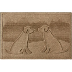 Everyspace Recycled Waterhog Doormat, Dog Friends Tan found on Bargain Bro Philippines from L.L. Bean for $39.95