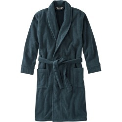 Men's Terry Cloth Organic Cotton Robe Blue L found on Bargain Bro India from L.L. Bean for $89.00