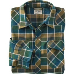 Men's Overland Performance Flannel Shirt Green XL found on Bargain Bro from L.L. Bean for USD $56.99