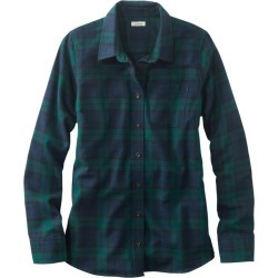 Women's Scotch Plaid Flannel Shirt, Relaxed Blue 3X found on Bargain Bro Philippines from L.L. Bean for $54.95