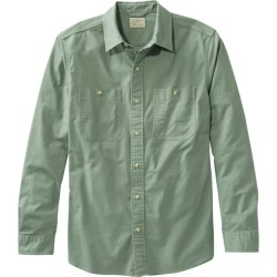 Men's Sunwashed Canvas Shirt, Slightly Fitted, Long-Sleeve Green XL found on Bargain Bro India from L.L. Bean for $54.95