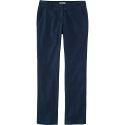 Women's Signature Washed Twill Pants, Slim Straight Leg Blue 8 found on Bargain Bro India from L.L. Bean for $24.99