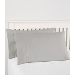 280-Thread-Count Pima Cotton Percale Pillowcases, Set of Two Gray found on Bargain Bro India from L.L. Bean for $39.95
