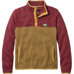 Men's L.L.Bean Sweater Fleece Pullover, Colorblock Red M found on Bargain Bro from L.L. Bean for USD $67.64