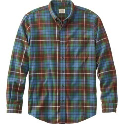 Men's Scotch Plaid Flannel Shirt, Slightly Fitted Green S found on Bargain Bro India from L.L. Bean for $49.95