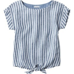 Women's Signature Short-Sleeve Linen Top Blue S found on Bargain Bro India from L.L. Bean for $69.00