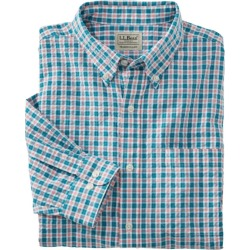 Men's Seersucker Shirt, Long-Sleeve Tattersall Blue L found on Bargain Bro India from L.L. Bean for $34.99