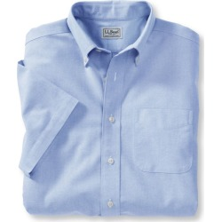 Men's Wrinkle-Free Classic Oxford Cloth Shirt, Traditional Fit Short-Sleeve Blue 15.5 found on Bargain Bro India from L.L. Bean for $44.95