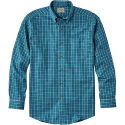 Men's Wrinkle-Free Twill Sport Shirt, Traditional Fit Plaid Blue M found on Bargain Bro India from L.L. Bean for $49.95