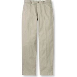 Men's Wrinkle-Free Double LA Chinos, Natural Fit Plain Front Brown 36 Wx34 Ins found on Bargain Bro India from L.L. Bean for $49.95