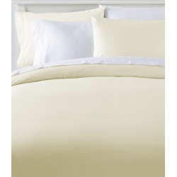 280-Thread-Count Pima Cotton Percale Comforter Cover Collection White found on Bargain Bro India from L.L. Bean for $99.00