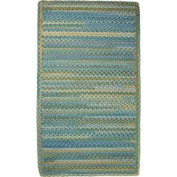 L.L.Bean Braided Wool Rug, Horizontal Braid Blue found on Bargain Bro India from L.L. Bean for $149.00