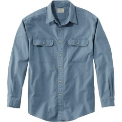 Men's Sunwashed Canvas Shirt, Traditional Fit Blue M found on Bargain Bro India from L.L. Bean for $49.95